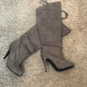 CL By Chinese Laundry Taupe Suede Knee High Boot